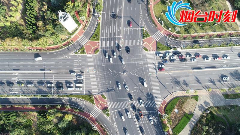 港城东大街与山海路路口渠化改造